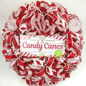 Candy Canes Christmas Wreath